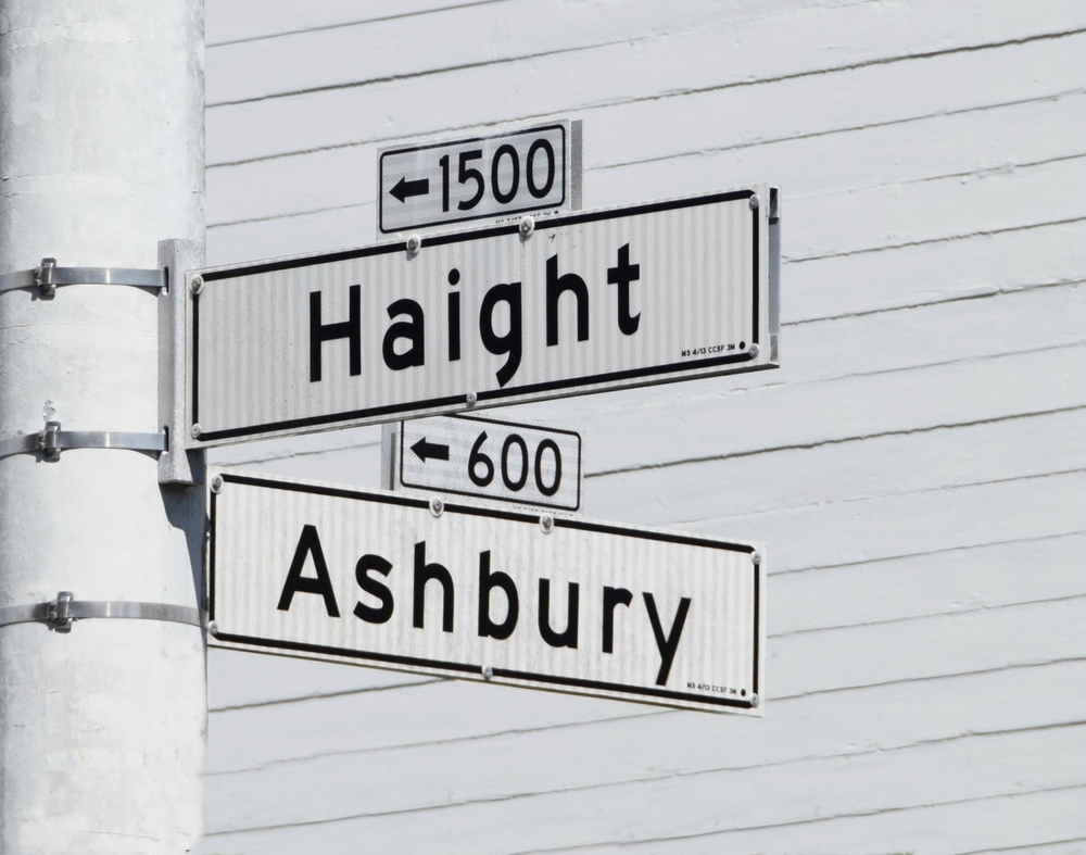 Industrial Hemp case with Haight Ashbury street signs